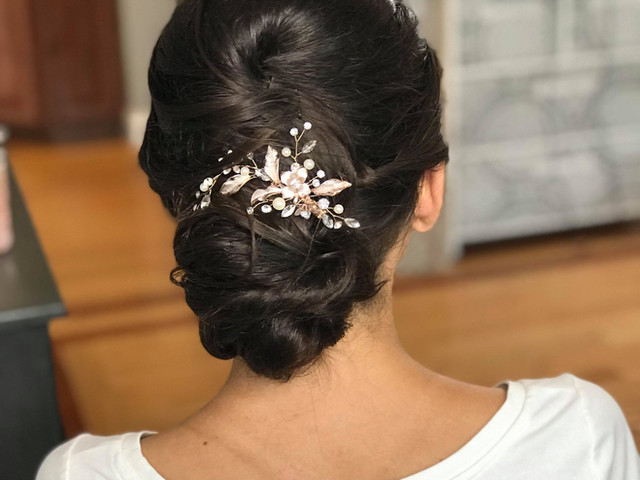Bride hair trial