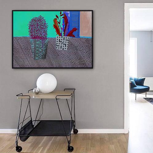 Lace Towel Canvas  Print | Color 3