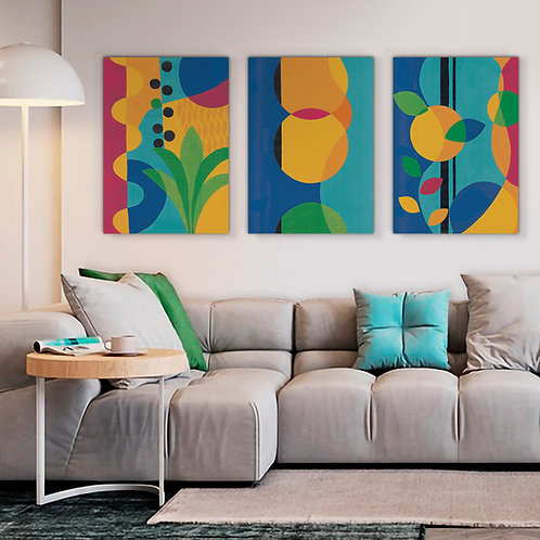 Trio Abstract Canvas  Print | Color 2