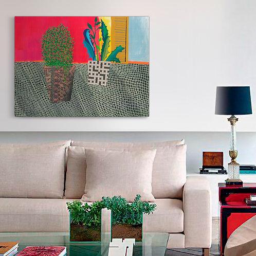 Lace Towel Canvas  Print   Color 1
