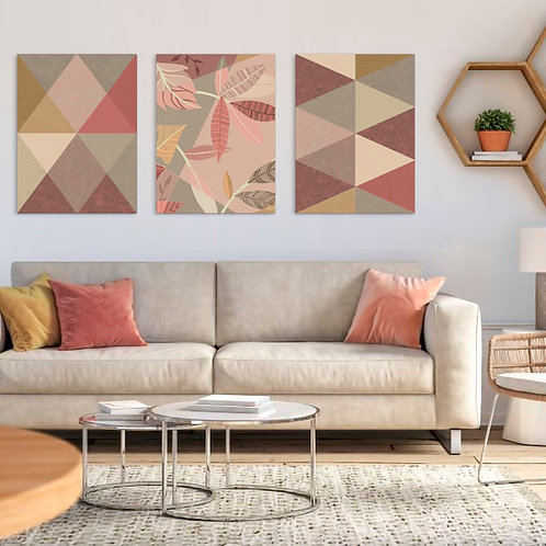 Trio Geometric Nature   Color 2