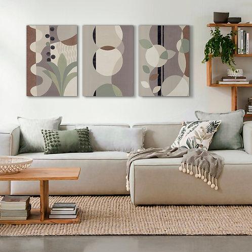 Trio Abstract Canvas  Print | Color 3