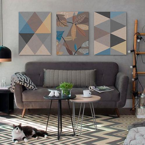 Trio Geometric Nature   Color 1