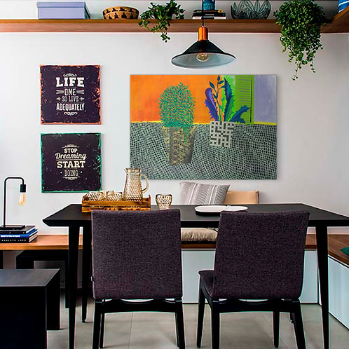 Lace Towel Canvas  Print   Color 2