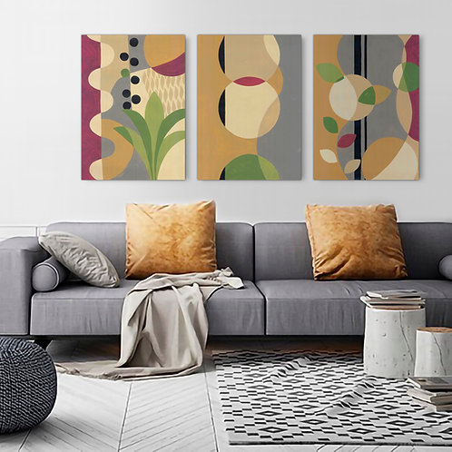 Trio Abstract Canvas  Print | Color 1