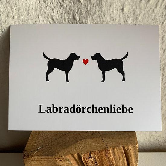 "Postkarte ""Labradörchenliebe"" | Lili & Balu"