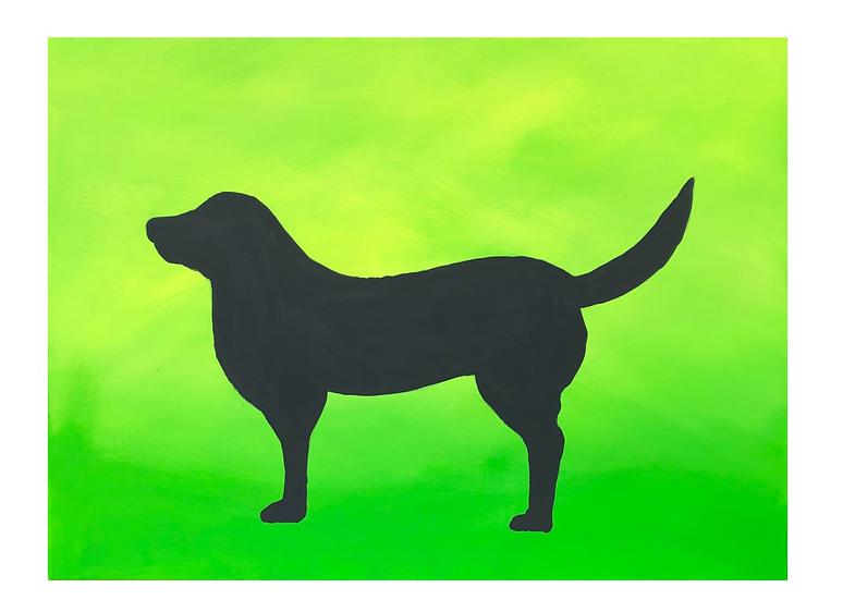 Gemälde Labrador, 70 x 50 cm, Galerie Farbsinn