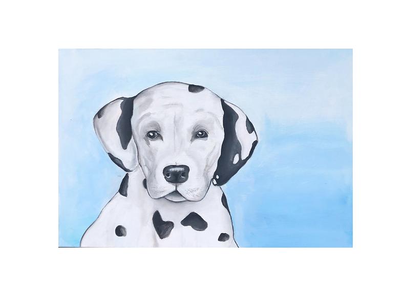 Gemälde Dalmatiner, 70 x 50 cm | Atelier Farbsinn