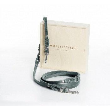 "Hundeleine ""Butter"" Leder, 3x verstellbar, Grau | Molly and Stitch, ab 59,00 €"