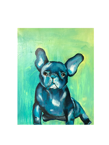 Gemälde French Bulldog, 40 x 50 cm   Atelier Farbsinn