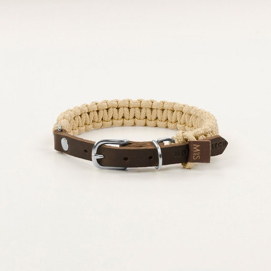 "Hundehalsband ""Touch of Leather"", Beige 