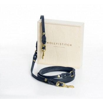 "Hundeleine ""Butter"" Leder, 3x verstellbar, Navy Blau | Molly and Stitch, ab 59€"