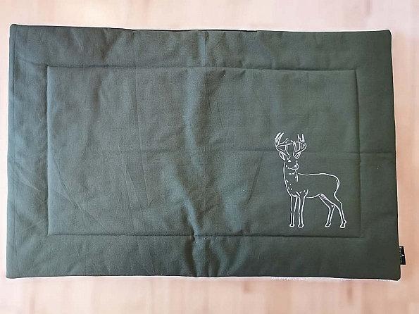 "Hundedecke Canvas ""Hirsch"", grün/ weiß, 100 x 70 cm | Herr Frytzz"