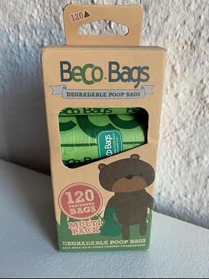 Hundekotbeutel von Beco Bags, biologisch abbaubar, 120 Stück