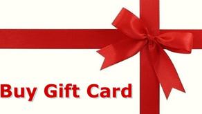 We Offer Gift Cards!