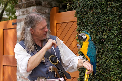 Pirate and Parrot on Charleston Tour