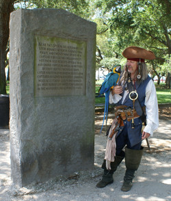 Pirate Memorial in White Point Gardens