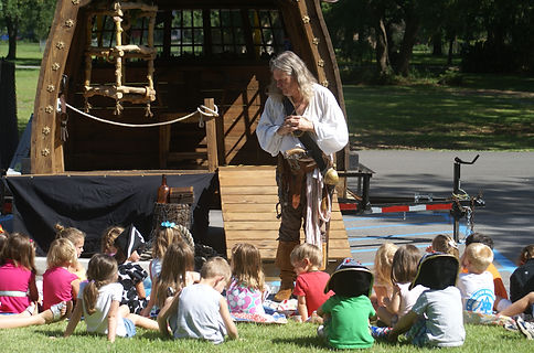 Charleston Pirate Tours makes learning fun for the youngest students, too.