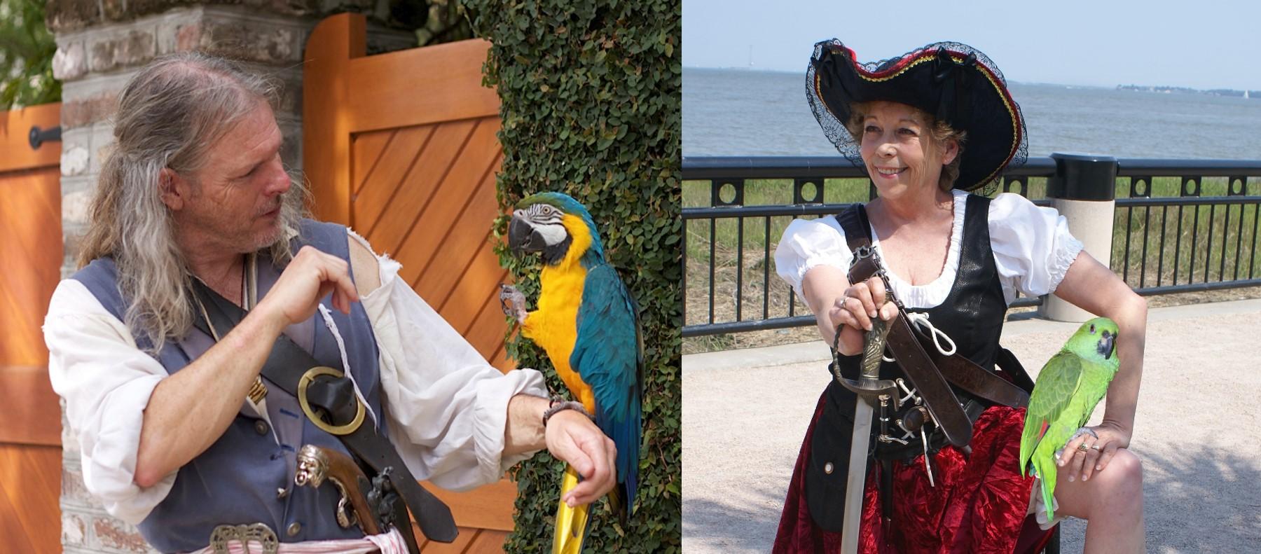 Eric and Sabrina of Charleston Pirate Tours