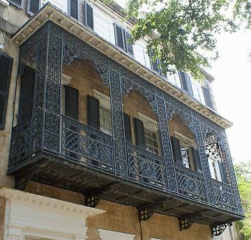Iron balcony on Charleston tour