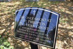 There's more than one ghost at St. Philip's Church.