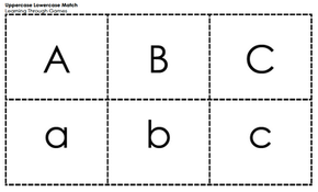 Letter Cards - Separate Upper and Lower Case
