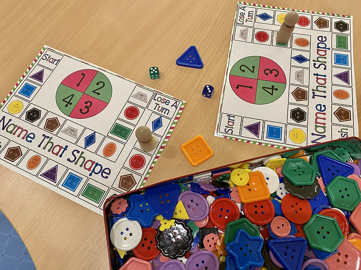 Board game with shapes
