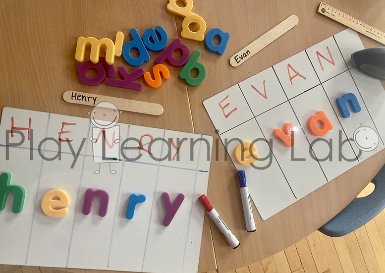 Name Writing With Letter Manipulatives