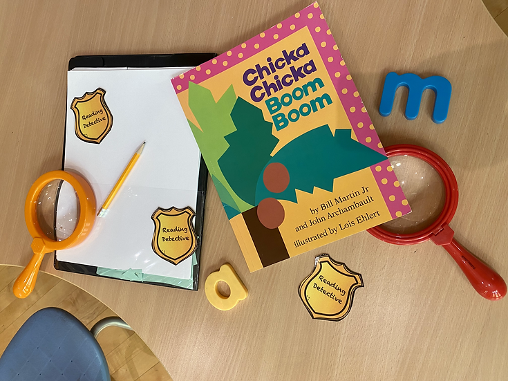 Children's book titled, Chicka Chicka Boom Boom