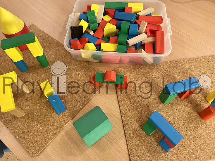 Building With 3D Shape Blocks