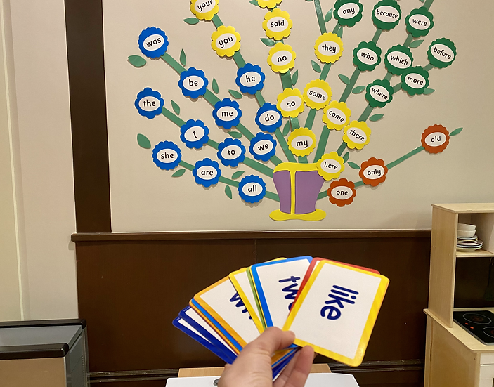 word wall and word cards