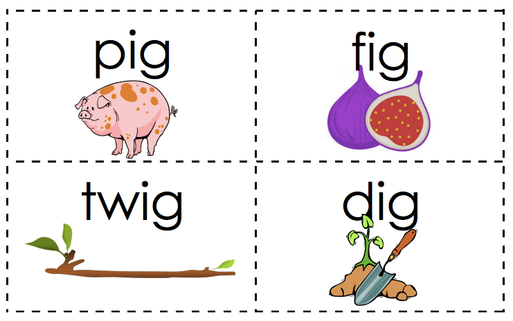 word cards with text and photo