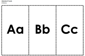 Letter Cards - Upper and Lower Case Together