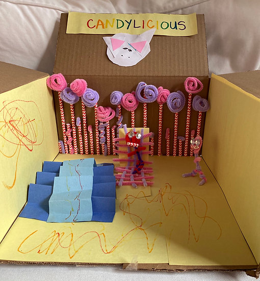 Toy box used as a diorama