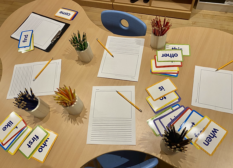 Paper and pencils for writing