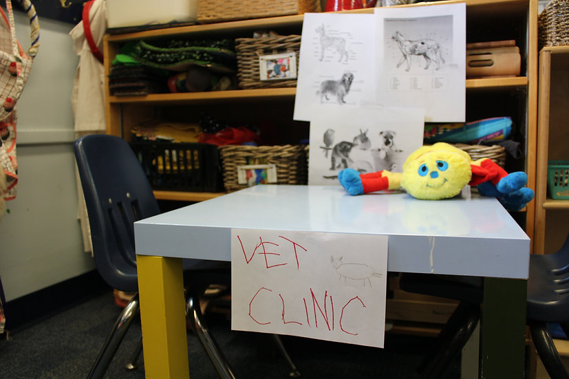 sign that says vet clinic