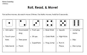 Roll, Read, & Move!