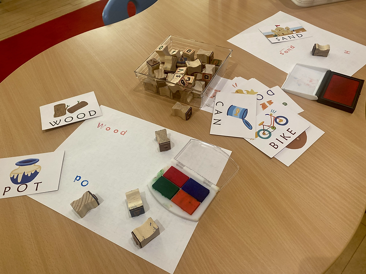 Letter stamps and paper