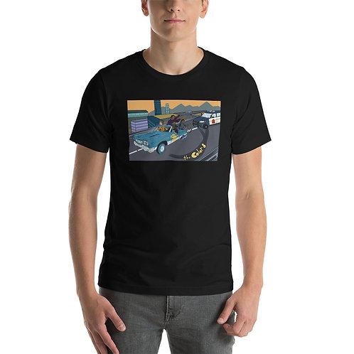 Car Chase Short-Sleeve Unisex T-Shirt
