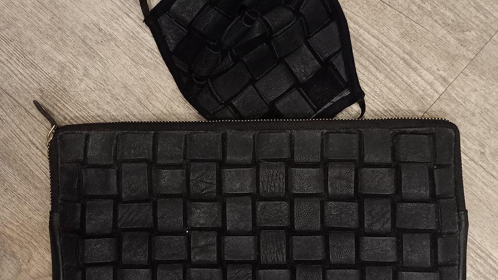 Leather covid mask and ipad sleeve