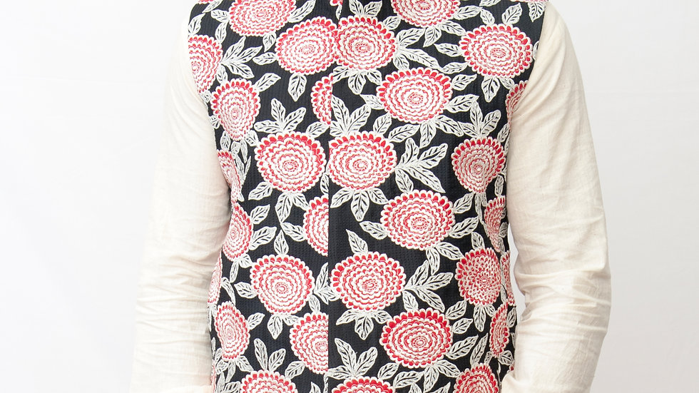 Embroidered and appliqued bundi