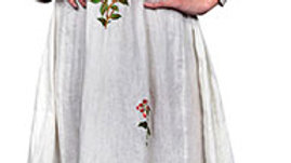 Linen embroidered anarkali