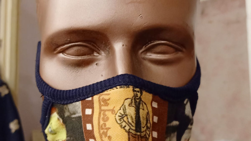 Digital printed retro covid mask