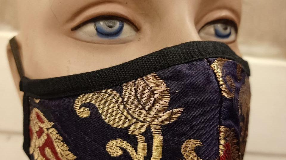 Silk jaquard 3 layered mask