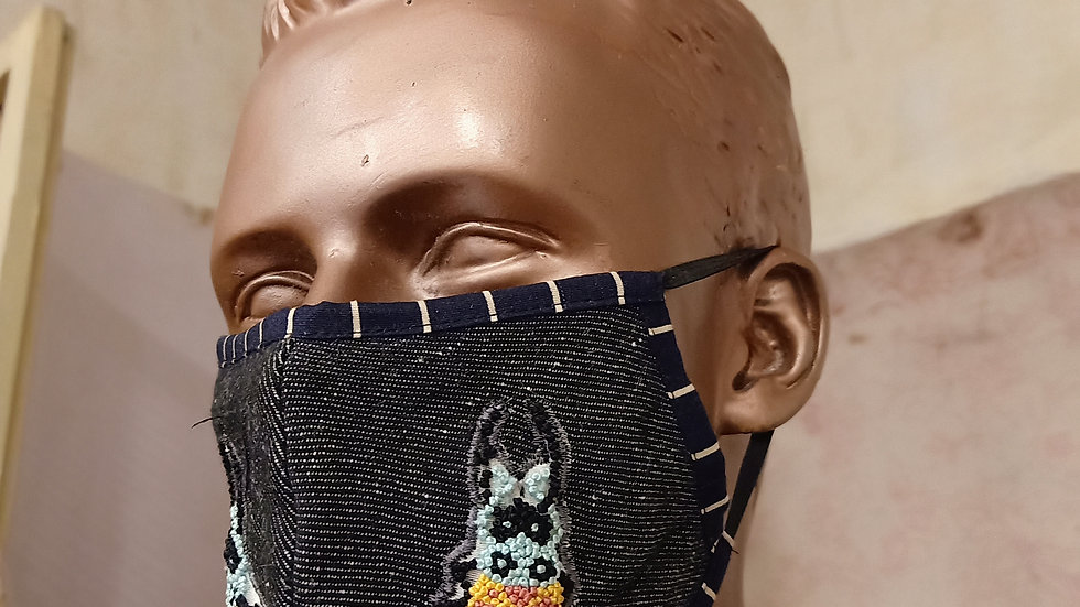 3D hand embroidered covid mask