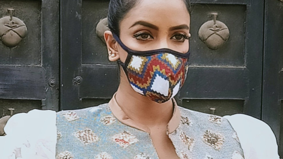 Digital printed covid cotton mask