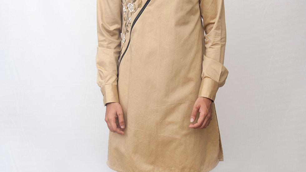 Handembroidered zippered kurta