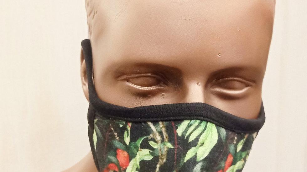 Digital printed bird print covid mask