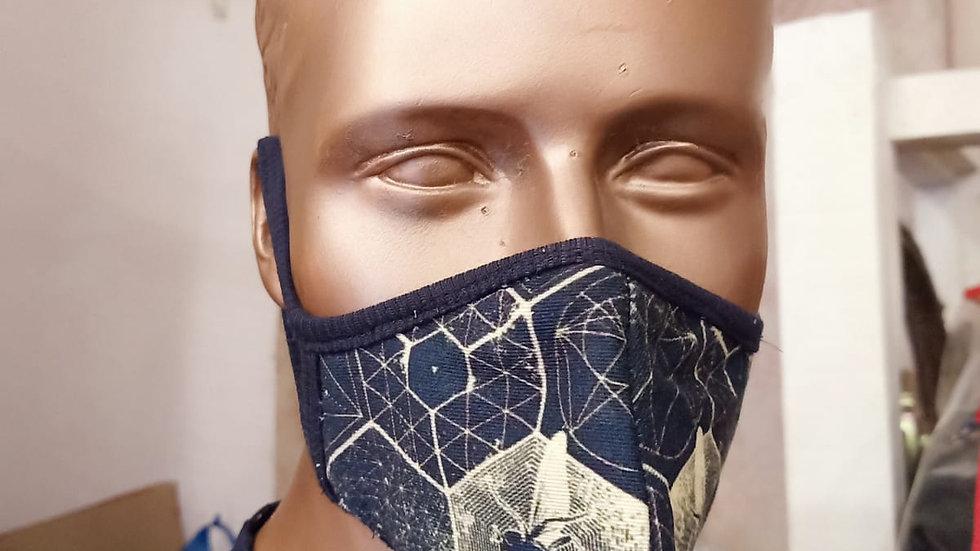 Digital printed honeycomb dysn covid mask