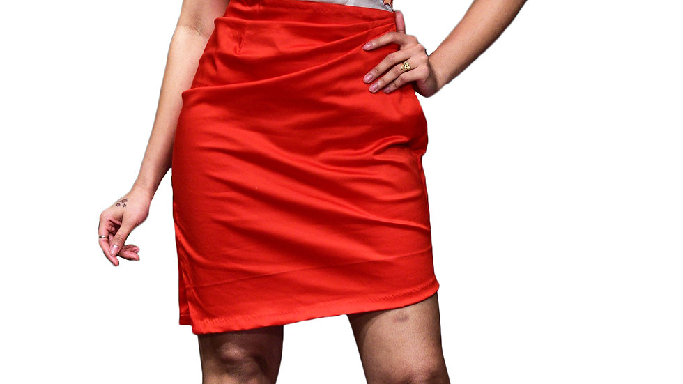 Handembroidered fitted short dress